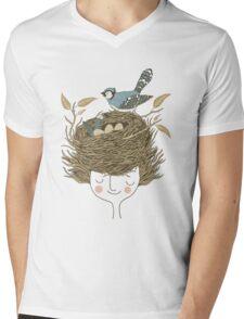 Bird Hair Day Mens V-Neck T-Shirt