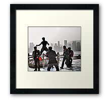 everyone wants to be Bruce Lee in Hong Kong  Framed Print