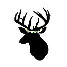 Hannibal Stag in a Flower Crown by h0rrid