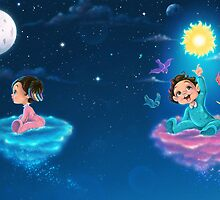 Little babies flying in the night by Izabela Ciesinska