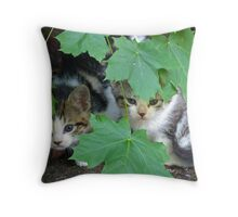 You can't see us! Throw Pillow