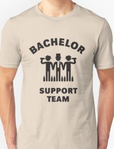 Bachelor Support Team (Stag Party / Black) Unisex T-Shirt