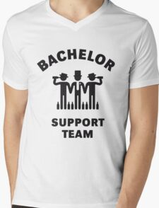 Bachelor Support Team (Stag Party / Black) Mens V-Neck T-Shirt