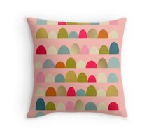 Delightful Rue (Pink) Throw Pillow