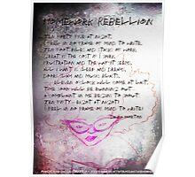 Homework Rebellion, girl reading, horse Poster