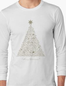 Musical Christmas tree Long Sleeve T-Shirt
