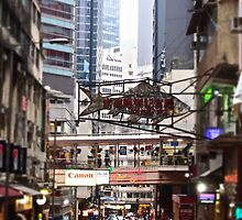 a flying fish in Soho Hong Kong by LoveDutchArtEbs