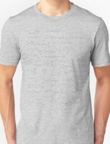 Physics - white on black T-Shirt