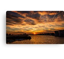 Sun is setting in London Canvas Print