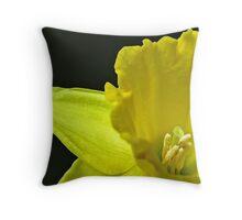 Gentle Daffodil Throw Pillow