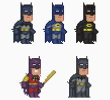 Batman Pixel Figure Sticker Set by Pixelfigures