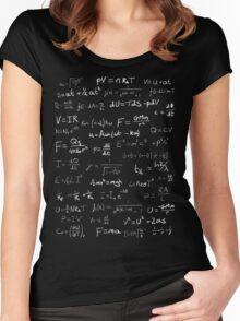 Physics - handwritten Women's Fitted Scoop T-Shirt
