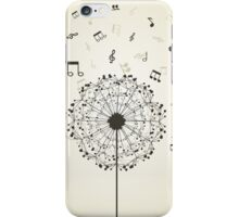 Music a dandelion iPhone Case/Skin