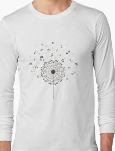 Music a dandelion Long Sleeve T-Shirt