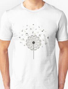 Music a dandelion Unisex T-Shirt