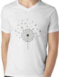 Music a dandelion Mens V-Neck T-Shirt