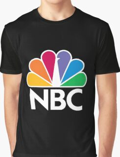 NBC Logo - White Graphic T-Shirt
