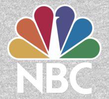 NBC Logo - White One Piece - Long Sleeve