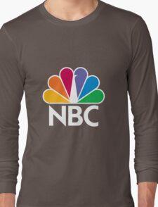 NBC Logo - White Long Sleeve T-Shirt