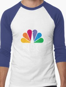 NBC Logo - White Men's Baseball ¾ T-Shirt