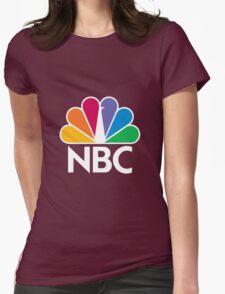 NBC Logo - White Womens Fitted T-Shirt