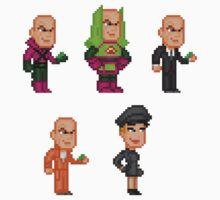 Lex Luthor Pixel Figure Sticker Set by Pixelfigures