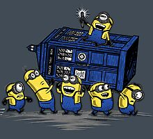 The Minions Have The Phone Box by Onebluebird