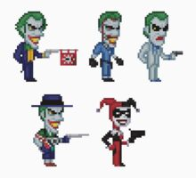 The Joker Pixel Figure Sticker Set by Pixelfigures