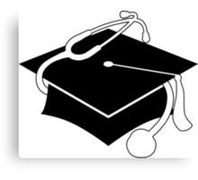 medical graduation cap Canvas Print