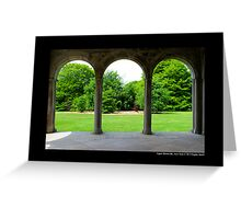 Garden View Through Coe Hall Historic House Museum Arches - Upper Brookville, New York Greeting Card