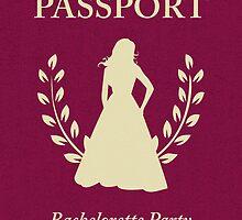 Bachelorette Party Passport Invitation by maydaze