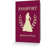 Bachelorette Party Passport Invitation Greeting Card