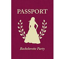 Bachelorette Party Passport Invitation Photographic Print