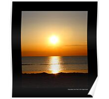 West Meadow Beach Sunset - Stony Brook, New York  Poster