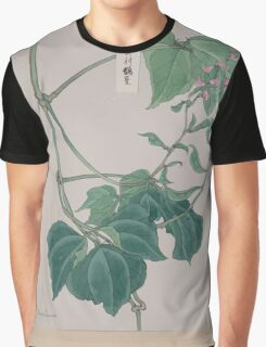 Mame   pea or bean plant showing vine leaves pods and blossoms 001 Graphic T-Shirt
