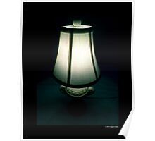 White Vintage Table Lamp  Poster