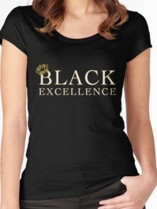 Black Excellence Women's Fitted Scoop T-Shirt