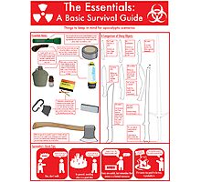 The Essentials: A Basic Survival Guide Photographic Print
