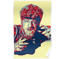 Lon Chaney, Jr in The Wolf Man Poster