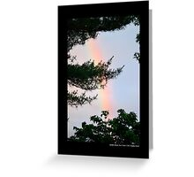 Forest Rainbow - Middle Island, New York  Greeting Card