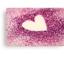 Glitter Love. Canvas Print