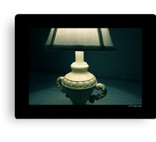 White Vintage Table Lamp  Canvas Print