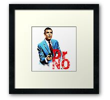 Doctor No 007 Characters Framed Print