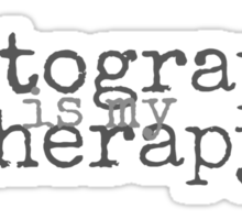 Photography is my Therapy Sticker
