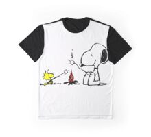 Snoopy and Woodstock Marshmallow Graphic T-Shirt