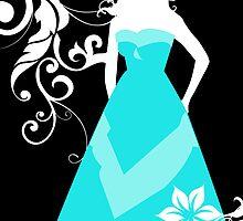 bridesmaid blue dress by maydaze