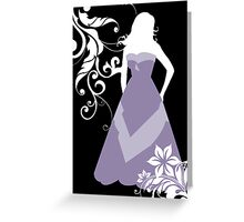 purple wedding dress Greeting Card