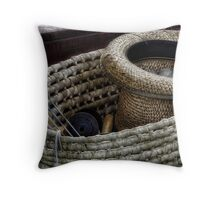 In the knit of time Throw Pillow