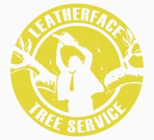 Leatherface Tree Service Kids Tee