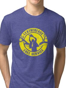 Leatherface Tree Service Tri-blend T-Shirt